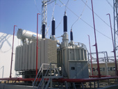 200 MVA,220 kV three thase three-winding autotransformers, Psou s/s, Russia